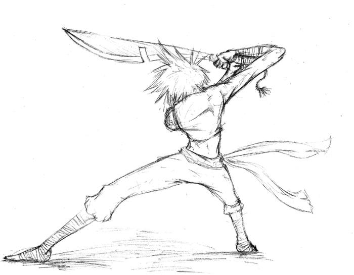 Some swordsman dude... by CaptainDeath