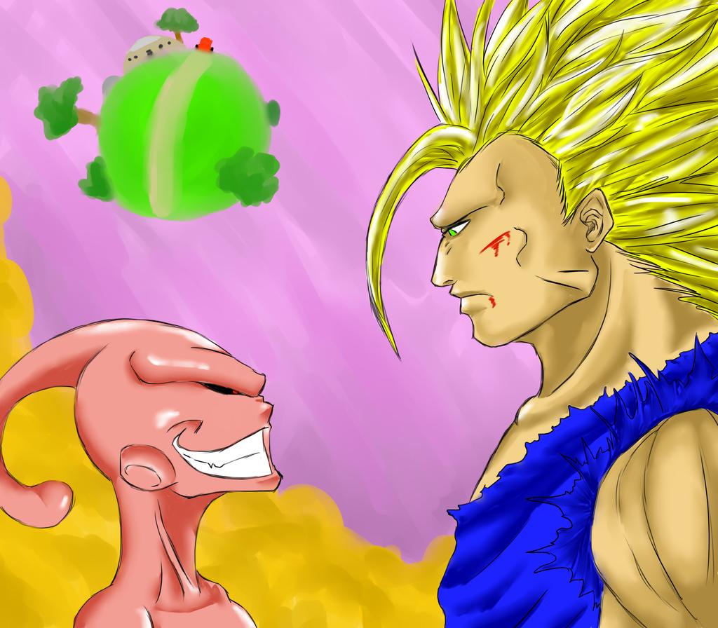 Goku Vs Kid buu by ChrolloDeitrich on DeviantArt