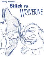 Stitch vs Wolverine by JABcomix