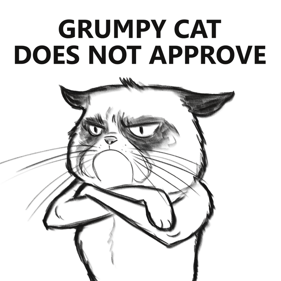 This is a picture of Exceptional Grumpy Cat Coloring Page