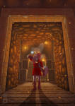 OOT - Fire Temple entrance by NeonSoul-Art
