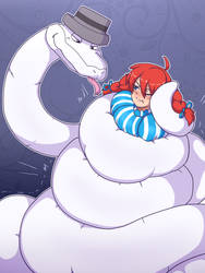 Hex Snake squeeze Wendy by TightSquish