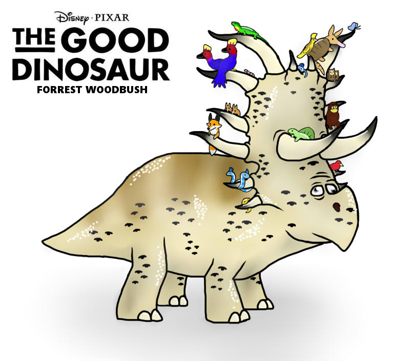 the good dinosaur forrest woodbush by fnafnir on deviantart