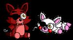 Plush Foxy and Mangle