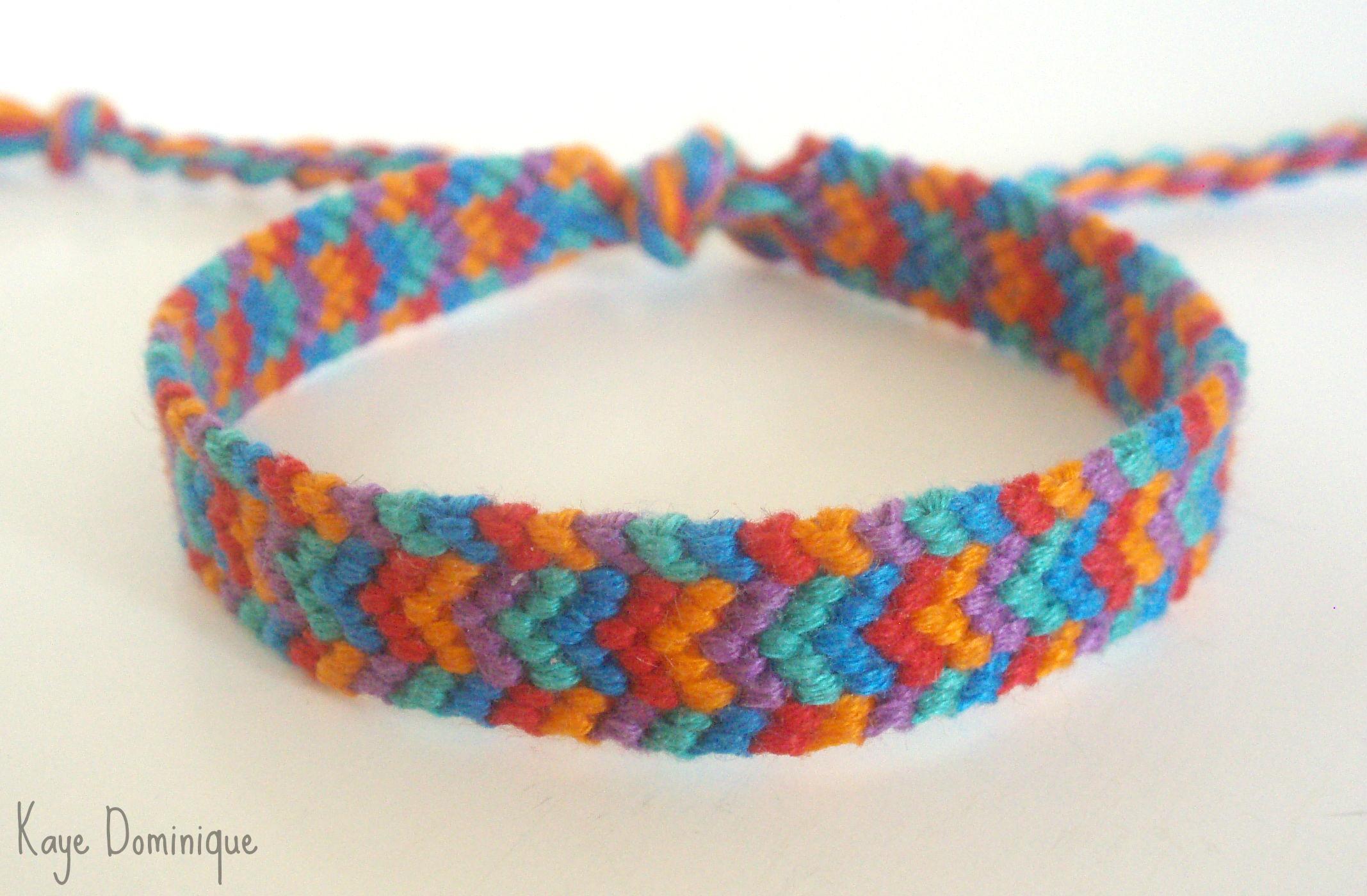 Chevron bracelet -  Bordered Chevron Bracelet By Chibi Shishi