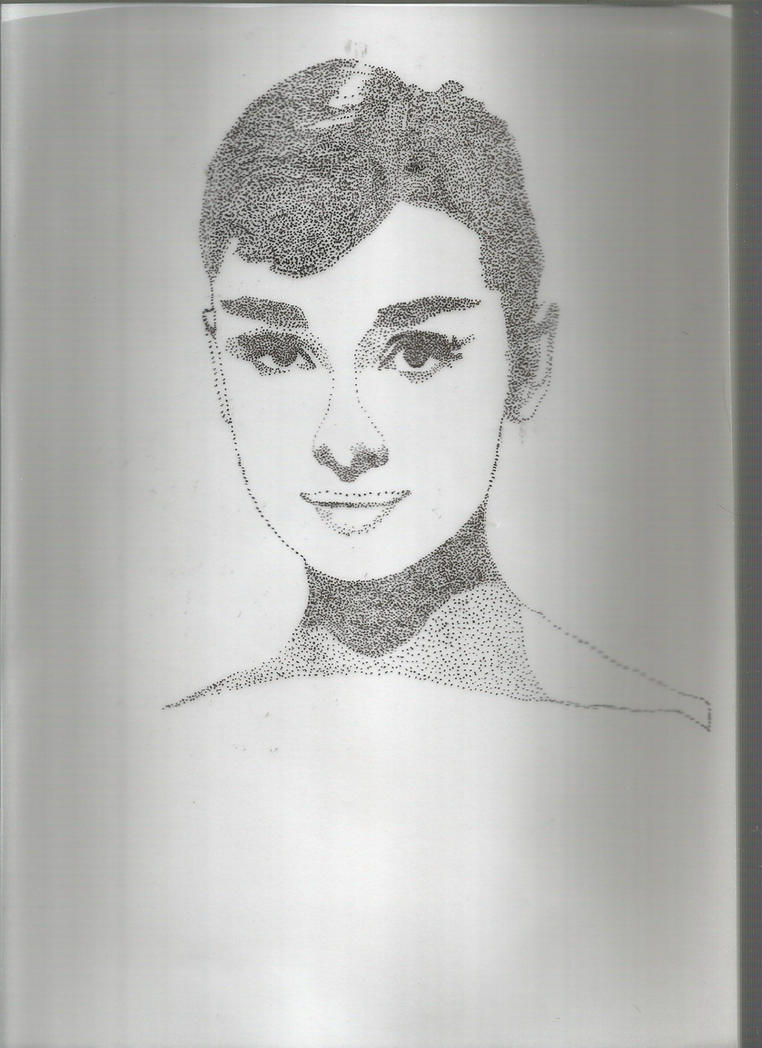 Audrey Hepburn Dotted Art by Linkonpark