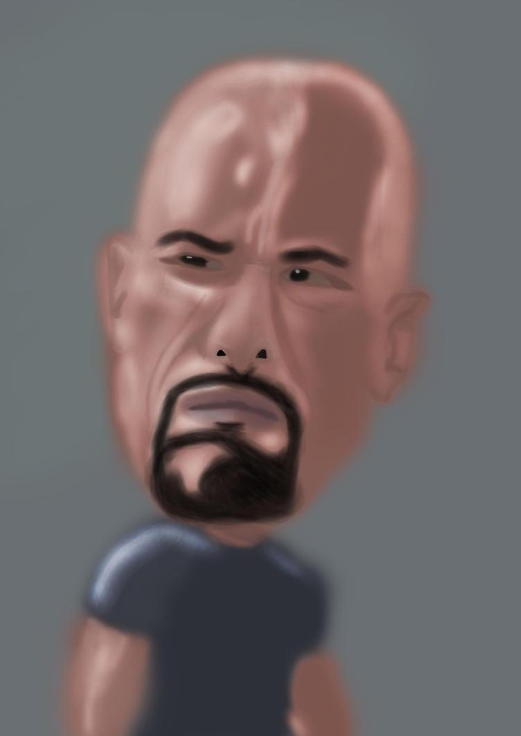 Dwayne The Rock Johnson Caricature by Linkonpark
