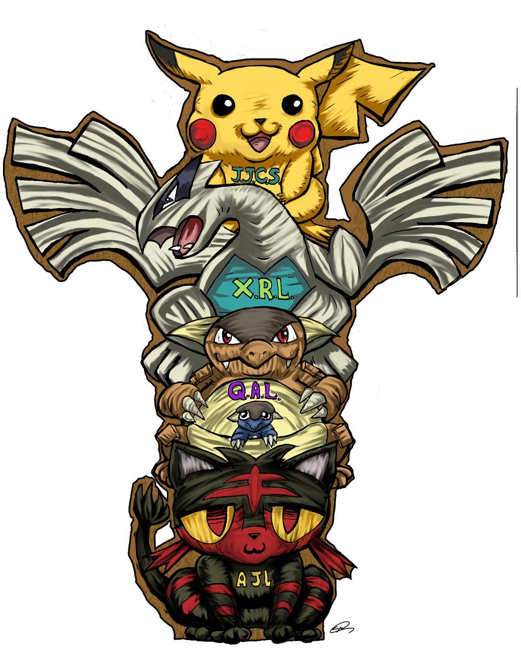 Pokemon Totem Tattoo Commission By Sarahmandrake On Deviantart