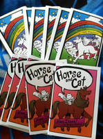 Horse and Cat Minicomics for DCAF! by AndrePaploo