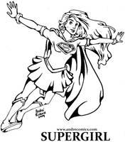 Inktober Supergirl Oct 1 by AndrePaploo