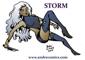 Inktober Oct 1- Storm by AndrePaploo