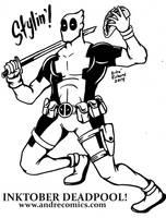 Deadpool Inktober by AndrePaploo