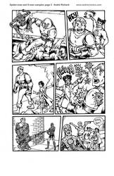 Wolverine Spider-man Jubilee X-men page 3 Marvel  by AndrePaploo