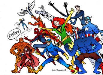 Excelsior! Marvel X-men Avengers Spider-man  by AndrePaploo