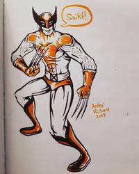 wolverine doodle x-men marvel by AndrePaploo