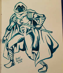 Moon Knight doodle by AndrePaploo