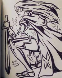 80s Psylocke Betsy Braddock by AndrePaploo