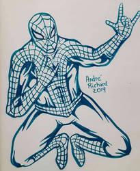 Spider-man Peter parker by AndrePaploo