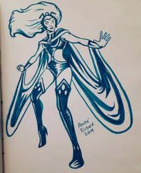 X-men Storm Ororo Munroe doodle by AndrePaploo