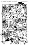 Hulk and Spidey Pizza 1 page story by AndrePaploo