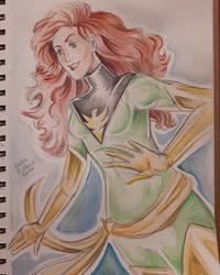 Phoenix watercolour Jean Grey X-men