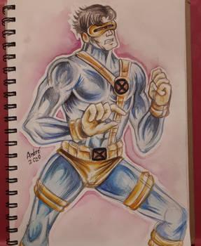 x-men Cyclops watercolour Marvel