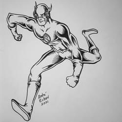 Justice League Flash Barry Allen doodle