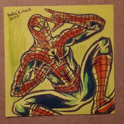 Spider-man post it note doodle Peter Parker