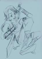 Ninja Lady of AWESOMENESS by AndrePaploo