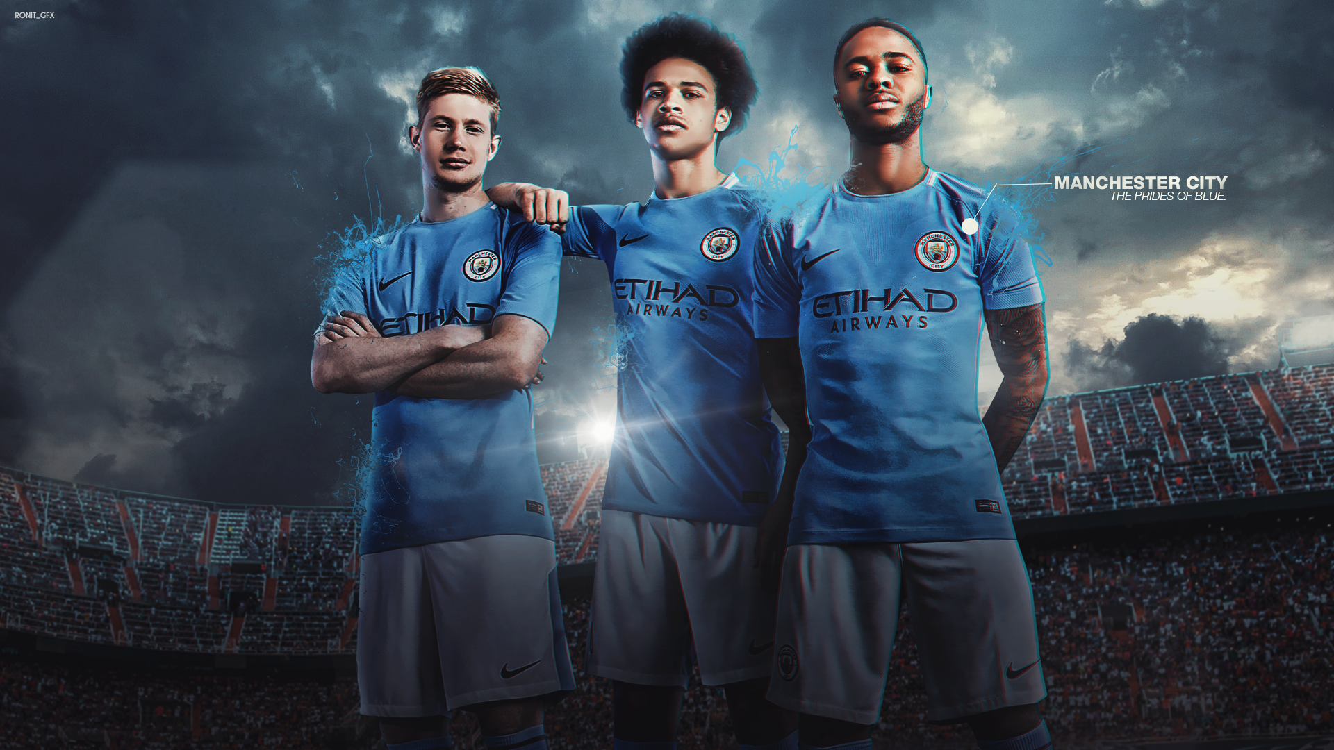 Manchester City Wallpaper 2017 Wallpaper Download 49: Manchester City 2017/18 Wallpaper By RonitGFX On DeviantArt