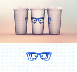 EYE GLASSES MUG
