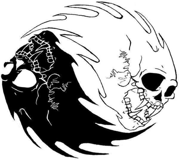 Ying Yang MetallicA Skull by TheMixture