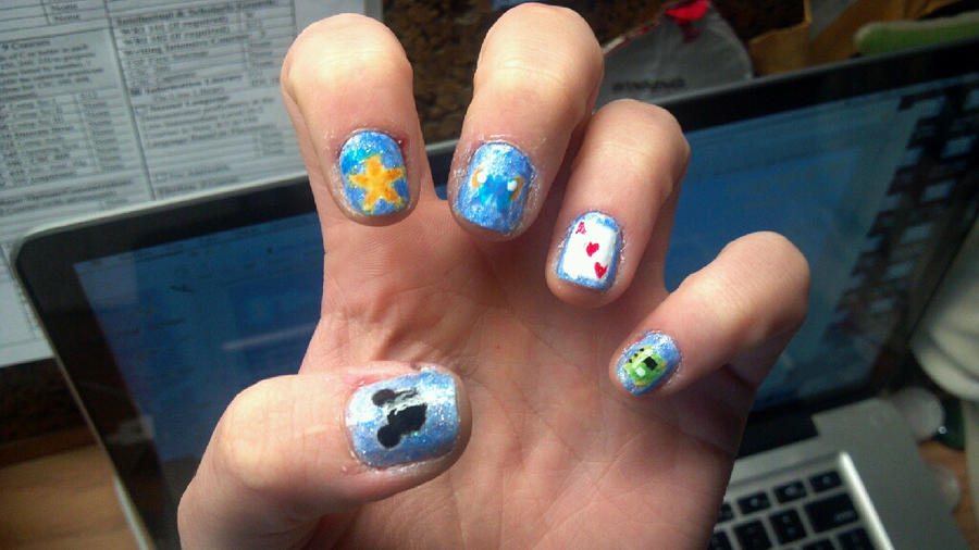 Kingdom Hearts Nails 2 by ouiouiouwha on DeviantArt