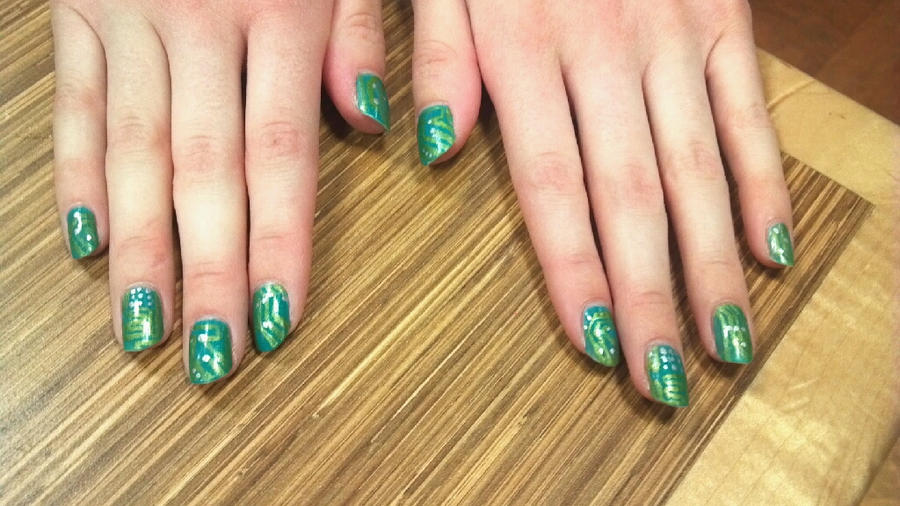 Circuit Board Nails By Ouiouiouwha On Deviantart