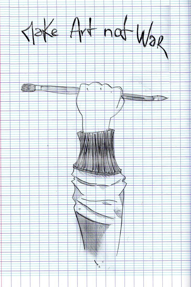 Make Art not War by Echnida