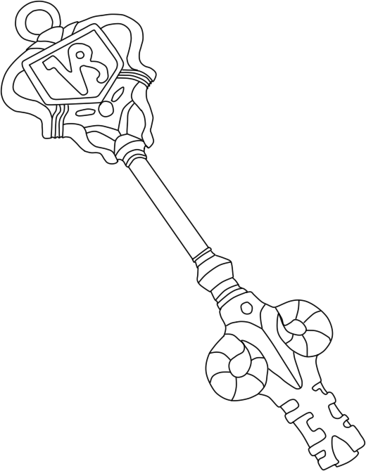 Fairy tail celestial key coloring pages for Key coloring page
