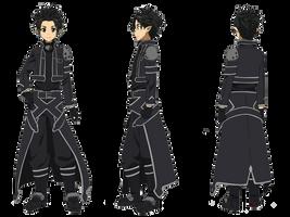 Sword Art Online - Kirito /Alfheim version/render by KaiserNazrin