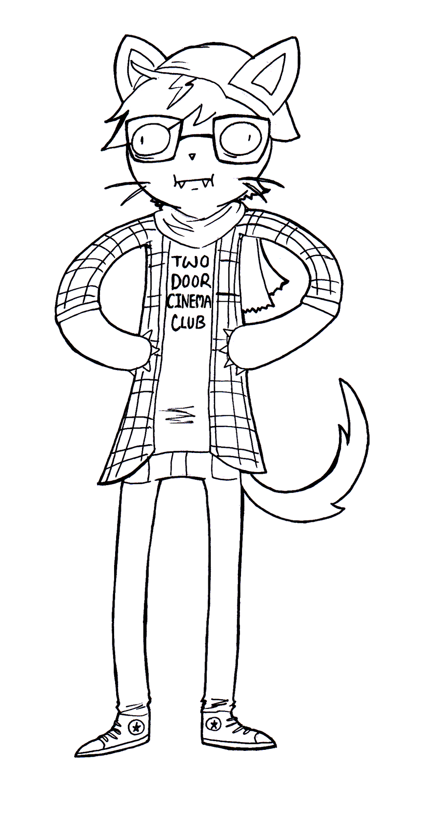Deviantart coloring clubs - Hipster Cat By Iggyanddenryu Hipster Cat By Iggyanddenryu