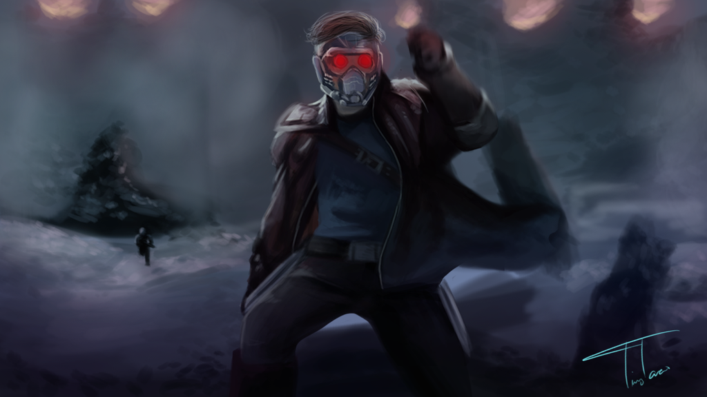Star Lord - Guardians of the Galaxy Wallpaper by TheTinyTaco