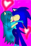 SonicxCrystal Kissing 2