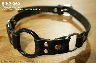 Handmade Ring Gag by FragileDesires