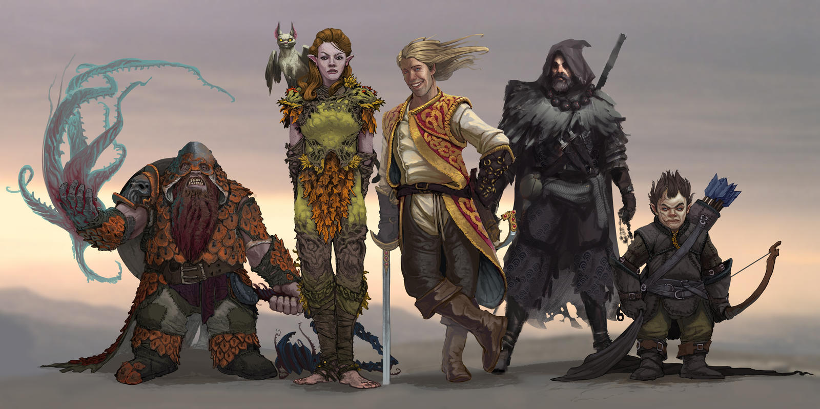 DnD Group Lineup by Stephen-0akley