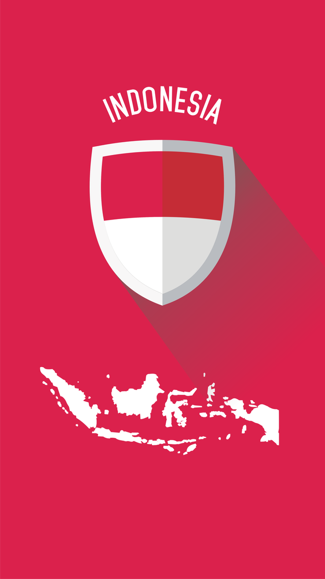 Indonesia Flat Design Wallpaper For Smartphone By 04lpha