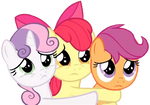 Cutie Mark Crusaders Pleading To Stay In Town by LoneBoy48