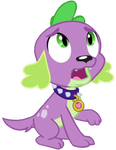 Spike Looking Up by LoneBoy48