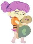 Water Lily Hugging Her Plushie by LoneBoy48