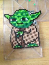Perler Bead Yoda by PugNoodles