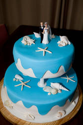 Sea Shell Wedding Cake by 1the1