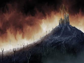 Burning Castle by BLPH