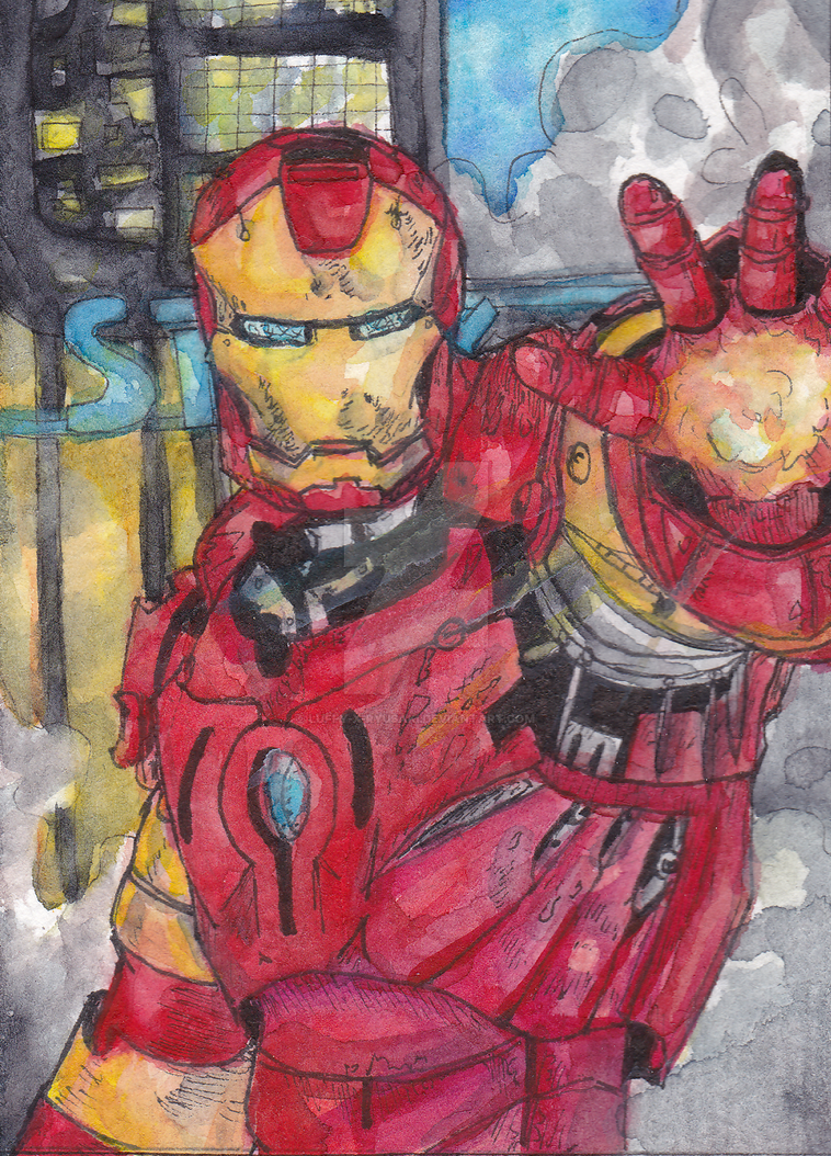 Iron Man ACEO by Luffy-x-Ryusaki